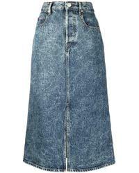 Étoile Isabel Marant High-waisted Denim Skirt - Blue