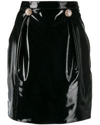 Versace Юбка Мини Из Искусственной Кожи - Черный