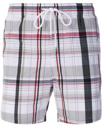 Moncler - Checked Swim Shorts - Lyst