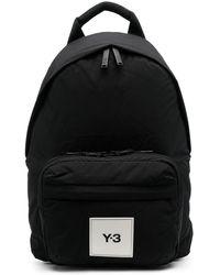 Y-3 ロゴパッチ バックパック - ブラック