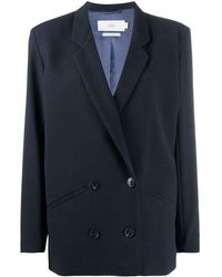 Closed Double-breasted Blazer - Blue