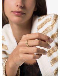 Gucci Золотое Кольцо С Логотипом GG - Металлик