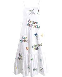 Mira Mikati Wellness-print Dress - White