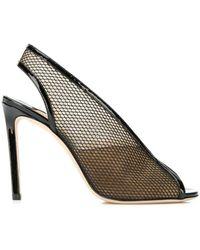 Jimmy Choo Shar 100 Sandals - Black