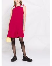 RED Valentino Платье Мини С Бантами - Розовый