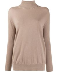 Peserico Ribbed Roll Neck Sweater - Multicolor
