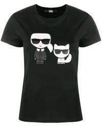 Karl Lagerfeld Футболка Karl & Choupette С Принтом - Черный