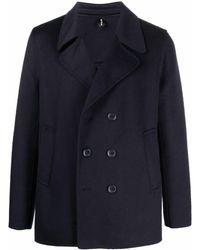 Paltò Double Breasted Short Coat - Blue
