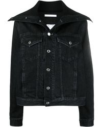 Helmut Lang Spread-collar Denim Jacket - Black