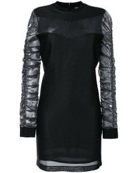 Versus - Gathered Sleeve Mini Dress - Lyst