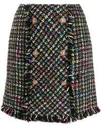 Edward Achour Paris Bouclé Tweed Mini Skirt - Black