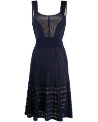 Temperley London Mirabilis Aラインドレス - ブルー