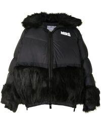 Nike X Sacai パデッドジャケット - ブラック