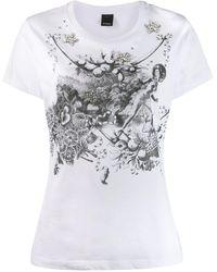 Pinko T-shirt con decorazione - Bianco