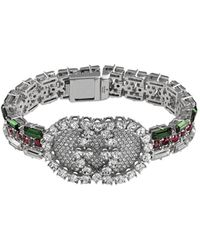 Gucci - Crystal Web Bracelet - Lyst