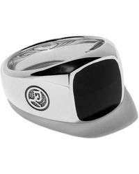 David Yurman Exotic Stone Onyx Signet Ring - Multicolour