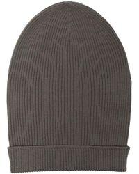 Rick Owens Bonnet Big Hat nervuré - Gris