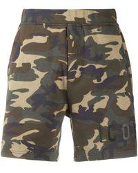 DSquared² Pantalones cortos con motivo Icon y militar - Multicolor