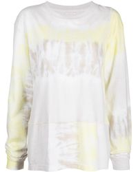 John Elliott Tie-dye Long-sleeve Top - White