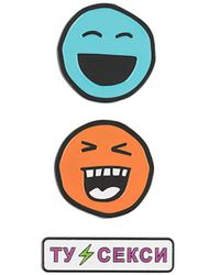 Natasha Zinko Smile Pin Set - Orange