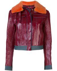 Sies Marjan Gabbie Leather Jacket - Red