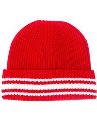 Maison Margiela - Striped Rib Knit Beanie - Lyst