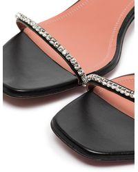 AMINA MUADDI Black Gilda 40 Crystal Strap Sandals - Zwart