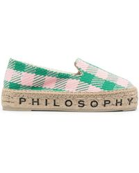 Philosophy Di Lorenzo Serafini ロゴソール エスパドリーユ - ピンク