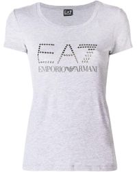 EA7 - Stamped T-shirt - Lyst