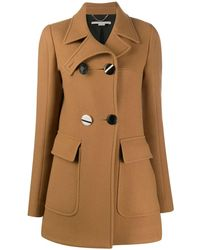 Stella McCartney Large Button Coat - Brown