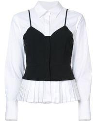 Yigal Azrouël - Layered Bustier Shirt - Lyst