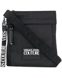 Versace Jeans Schoudertas Met Logopatch - Zwart