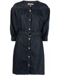 Essentiel Antwerp デニムシャツドレス - ブルー