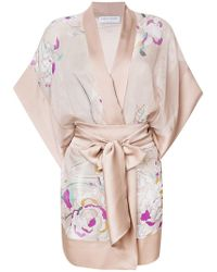 Carine Gilson - Floral Short Kimono - Lyst