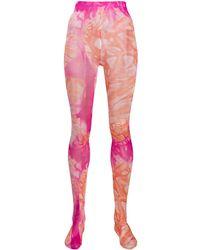 Versace Tie-dye Effect Tights - Pink
