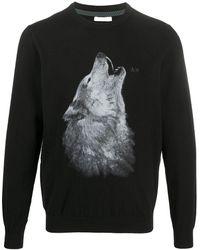 Sun 68 - Wolf-print Sweater - Lyst