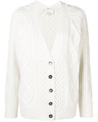 3.1 Phillip Lim - Cable Knit V-neck Cardigan - Lyst