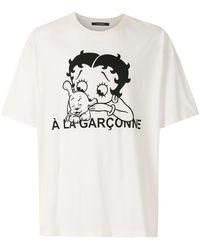 À La Garçonne Betty Boop オーバーサイズ Tシャツ - ホワイト