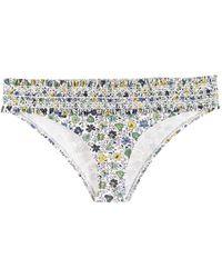 Tory Burch Floral Print Bikini Bottoms - White