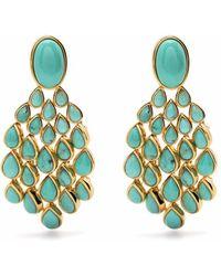 Aurelie Bidermann Turquoise Cherokee Clip-on Earrings - Blue