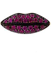 Delfina Delettrez - 'lips' Ruby Earring - Lyst