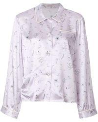 Morgan Lane Ruthie Printed Pyjama Shirt - Purple