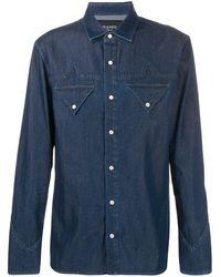 Mr & Mrs Italy Camisa con cierre con botones - Azul