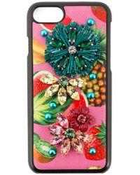 Dolce & Gabbana Tropical Fruit Embellished Iphone 6 Case - Zwart