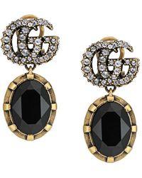 Gucci Серьги-подвески С Кристаллами И Логотипом GG - Многоцветный
