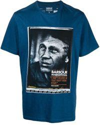 Barbour プリント Tシャツ - ブルー