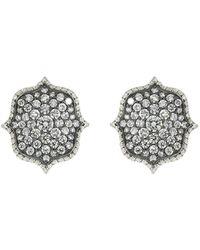 Bayco Orecchini Lotus con diamanti - Metallizzato