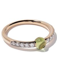Pomellato - 18kt Rose Gold M'ama Non M'ama Peridot & Diamond Ring - Lyst