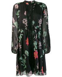 Giamba Floral Print Dress - Black