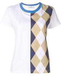 Pringle of Scotland Camiseta con estampado de rombos - Blanco